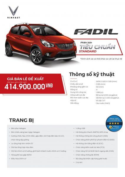 Thông Số kỹ Thuật Fadil TC